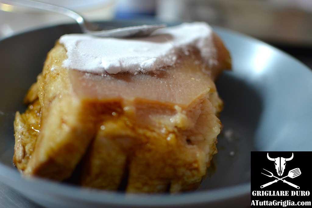 crosta pancia di maiale bbq