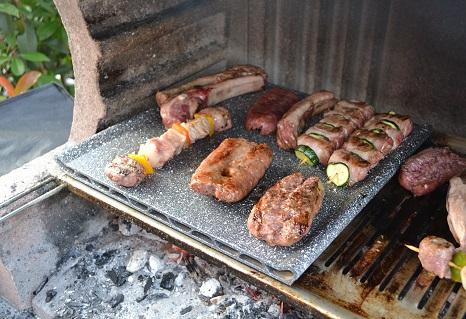 piastra antiaderente per barbecue