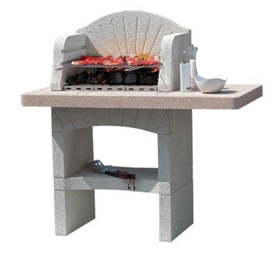 barbecue in muratura senza cappa