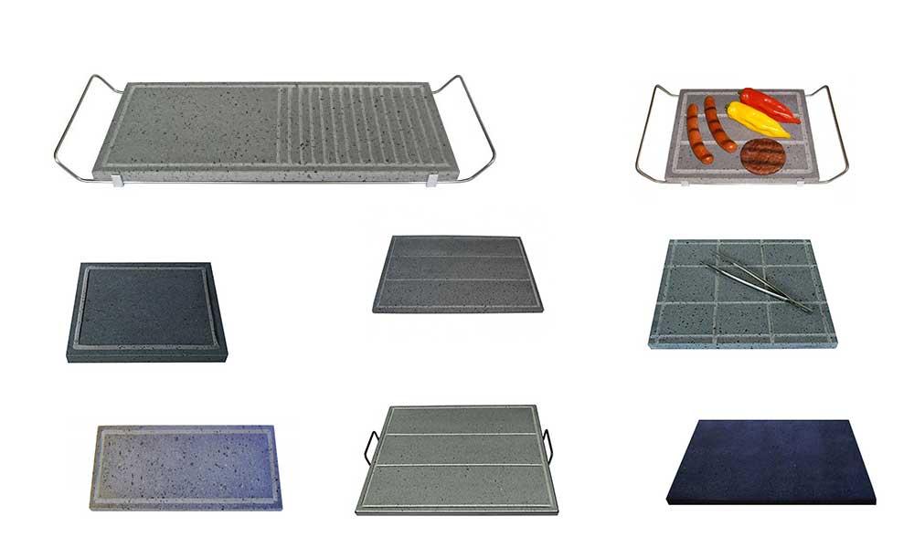 Pietra lavica per cucinare piastre per barbecue o fornelli - Cucinare con la pietra lavica ...
