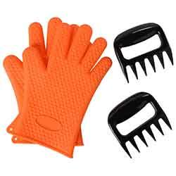 kit guanti artigli da barbecue
