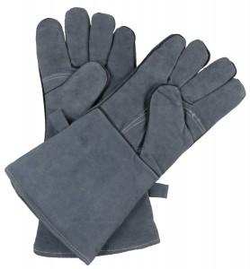 guanti in pelle barbecue