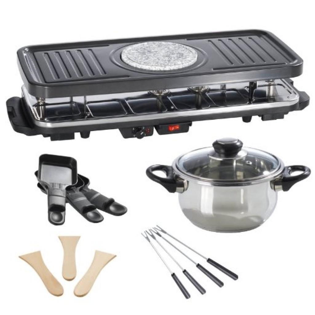 Piastra per Raclette con pietra ollare o multi funzione